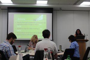 Lisa Haddow presenting on behalf of University of Stirling