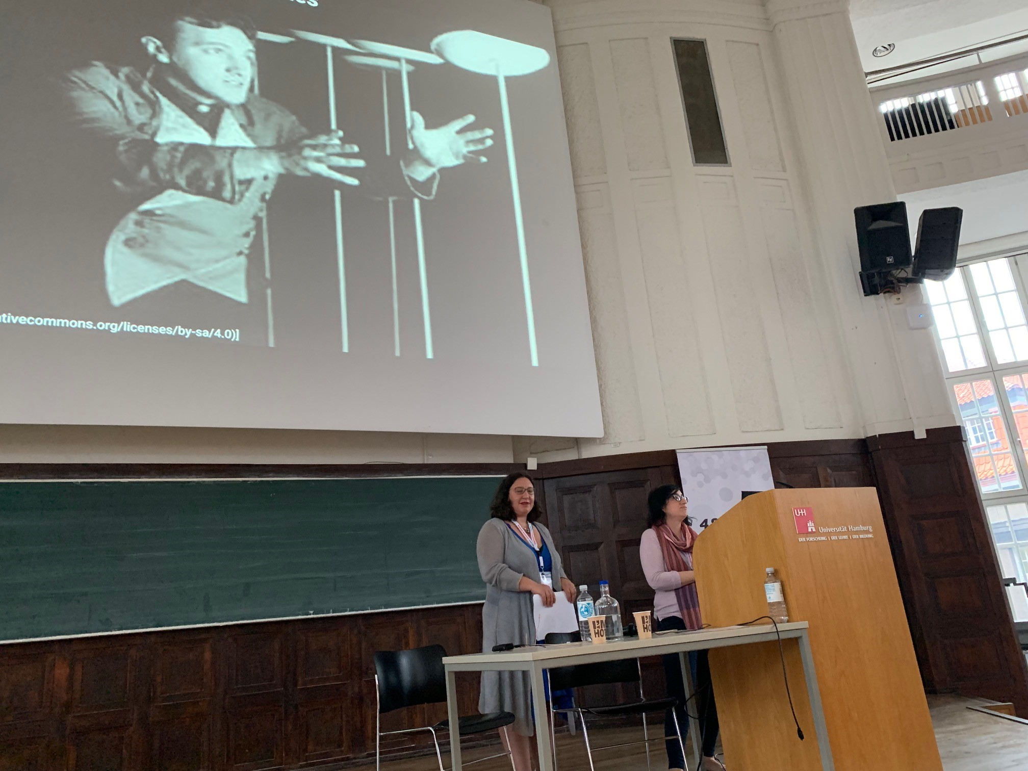 Image showing Monica Duke and Balviar Notay presenting at Open Repositories 2019